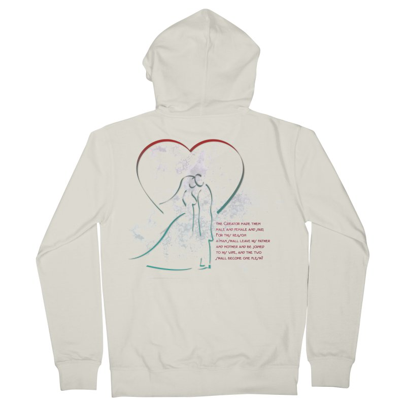 Man and woman Men's French Terry Zip-Up Hoody by ReiLuzardo's Artist Shop