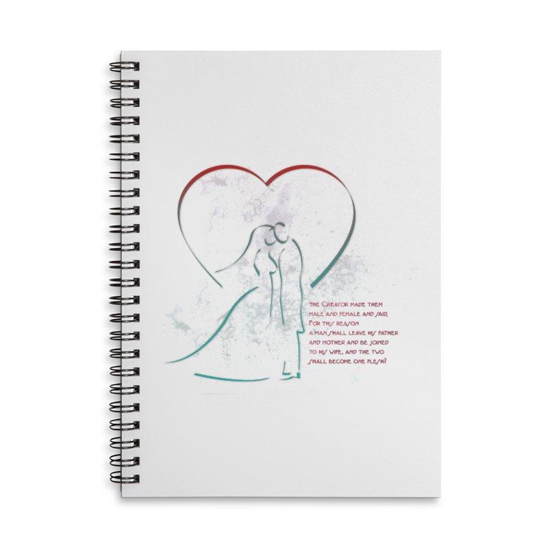 Man and woman Accessories Lined Spiral Notebook by ReiLuzardo's Artist Shop