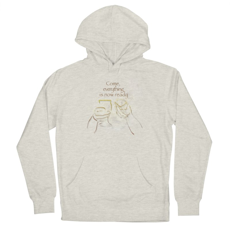 The supper of the Lord Men's French Terry Pullover Hoody by ReiLuzardo's Artist Shop