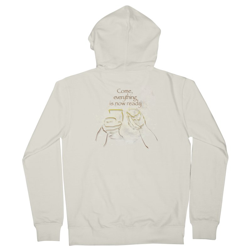 The supper of the Lord Men's French Terry Zip-Up Hoody by ReiLuzardo's Artist Shop