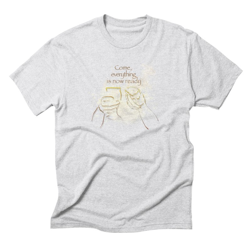 The supper of the Lord Men's Triblend T-Shirt by ReiLuzardo's Artist Shop