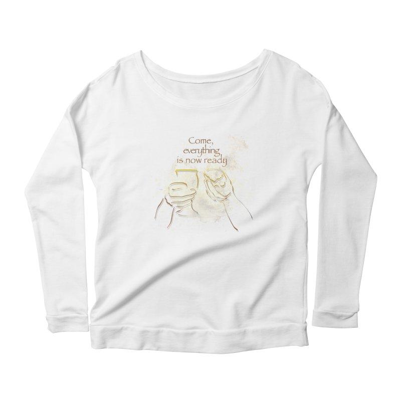 The supper of the Lord Women's Scoop Neck Longsleeve T-Shirt by ReiLuzardo's Artist Shop