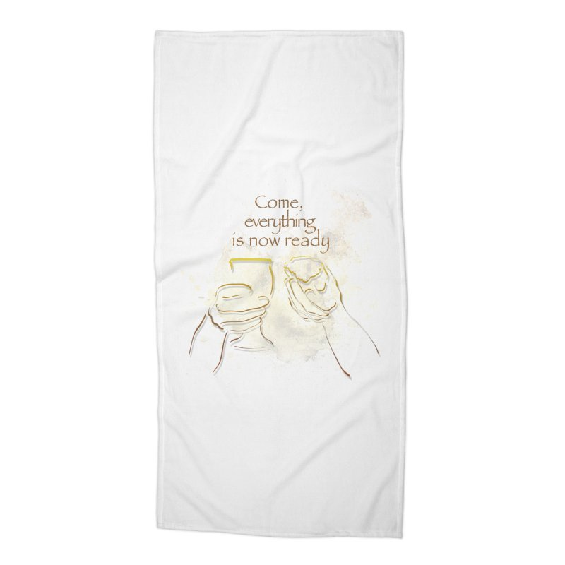 The supper of the Lord Accessories Beach Towel by ReiLuzardo's Artist Shop