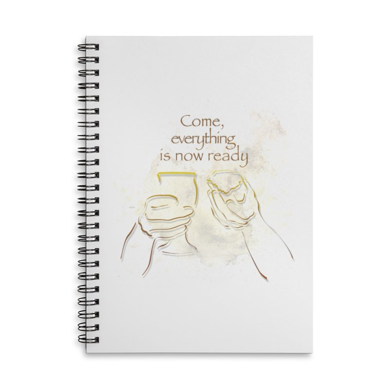 The supper of the Lord Accessories Lined Spiral Notebook by ReiLuzardo's Artist Shop
