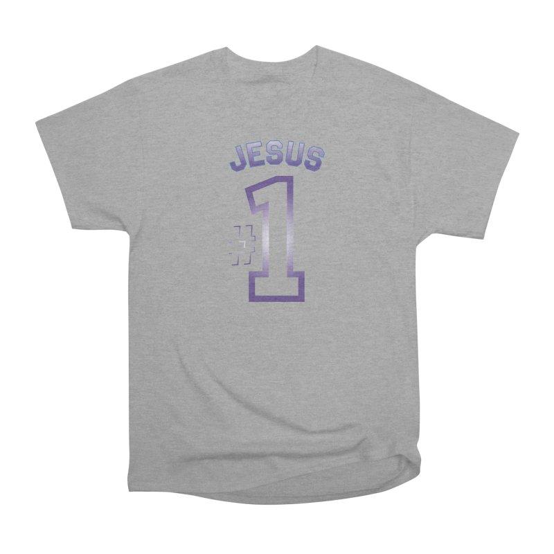 Jesus is number one Women's Heavyweight Unisex T-Shirt by ReiLuzardo's Artist Shop