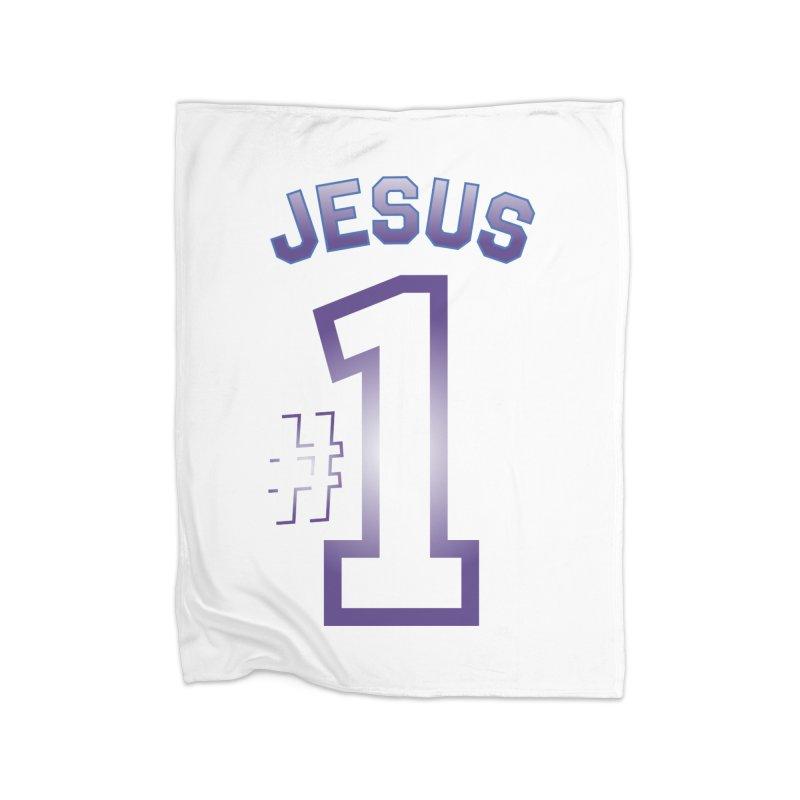 Jesus is number one Home Fleece Blanket Blanket by ReiLuzardo's Artist Shop