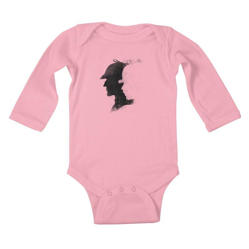 Sherlock's hommies Kids Baby Longsleeve Bodysuit by Rejagalu's Artist Shop