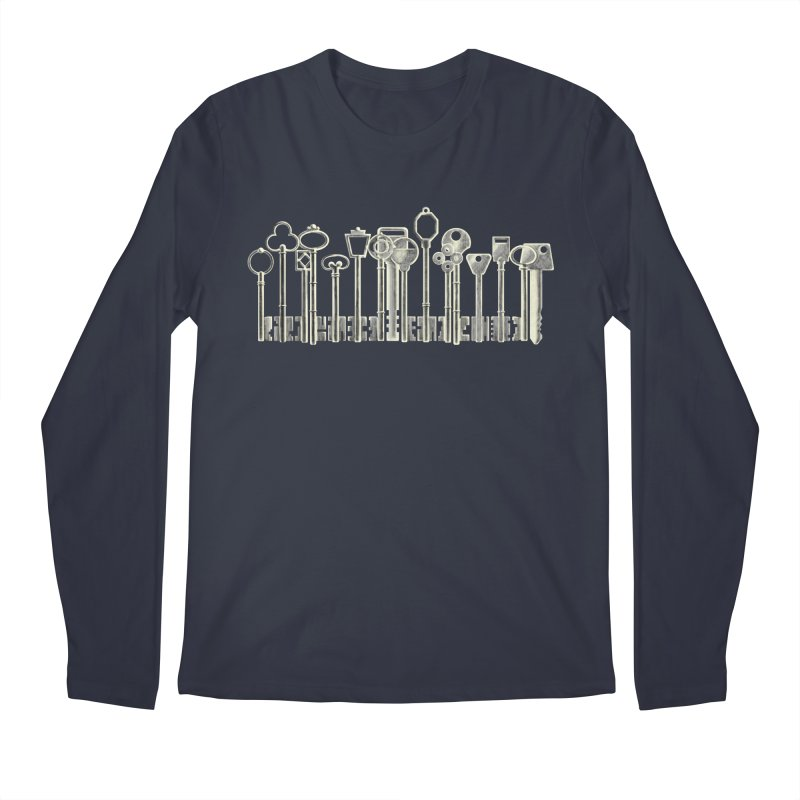 the board of keys Men's Longsleeve T-Shirt by Rejagalu's Artist Shop
