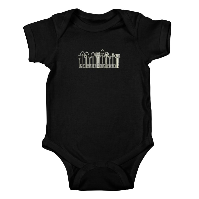 the board of keys Kids Baby Bodysuit by Rejagalu's Artist Shop
