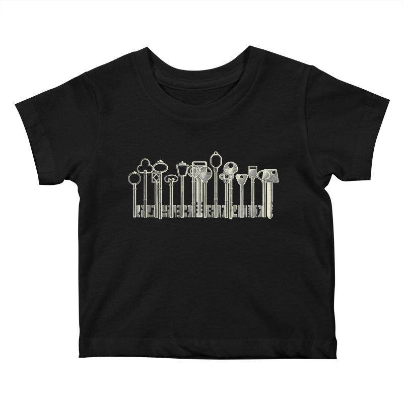 the board of keys Kids Baby T-Shirt by Rejagalu's Artist Shop