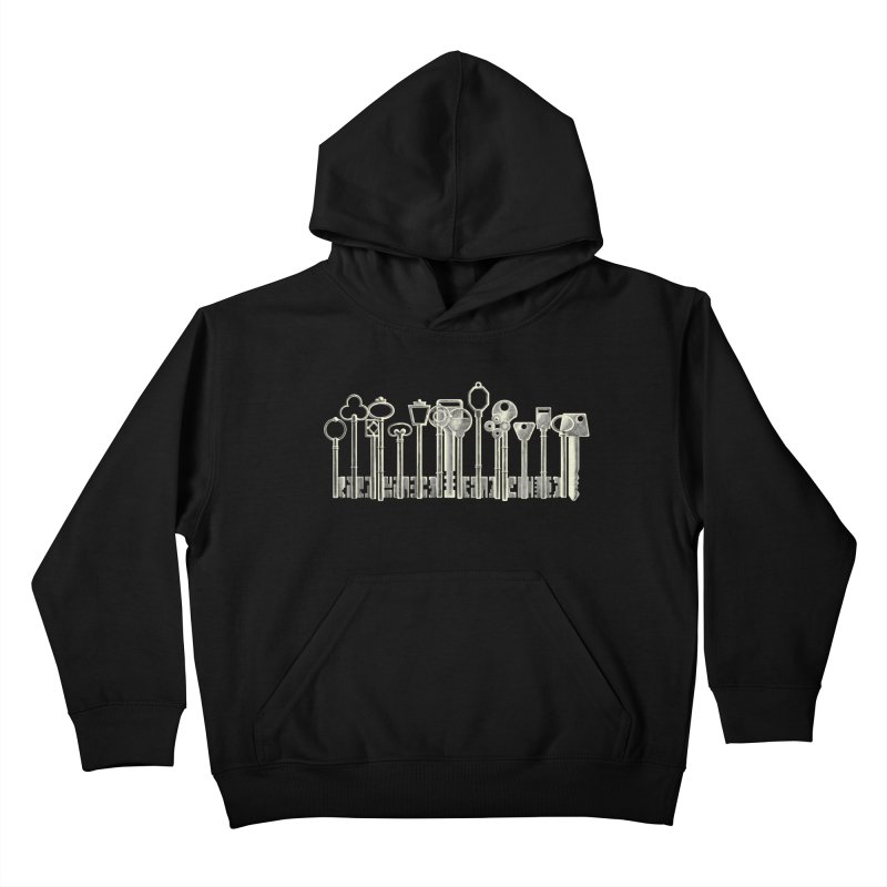 the board of keys Kids Pullover Hoody by Rejagalu's Artist Shop