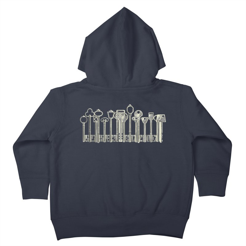 the board of keys Kids Toddler Zip-Up Hoody by Rejagalu's Artist Shop