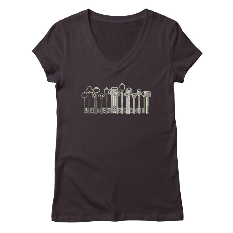 the board of keys Women's V-Neck by Rejagalu's Artist Shop