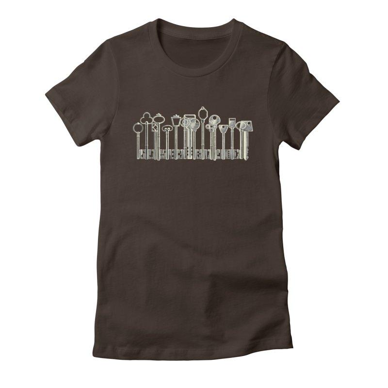 the board of keys Women's Fitted T-Shirt by Rejagalu's Artist Shop