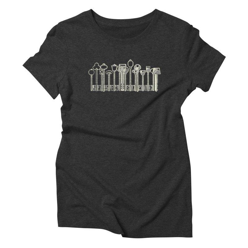 the board of keys Women's Triblend T-shirt by Rejagalu's Artist Shop