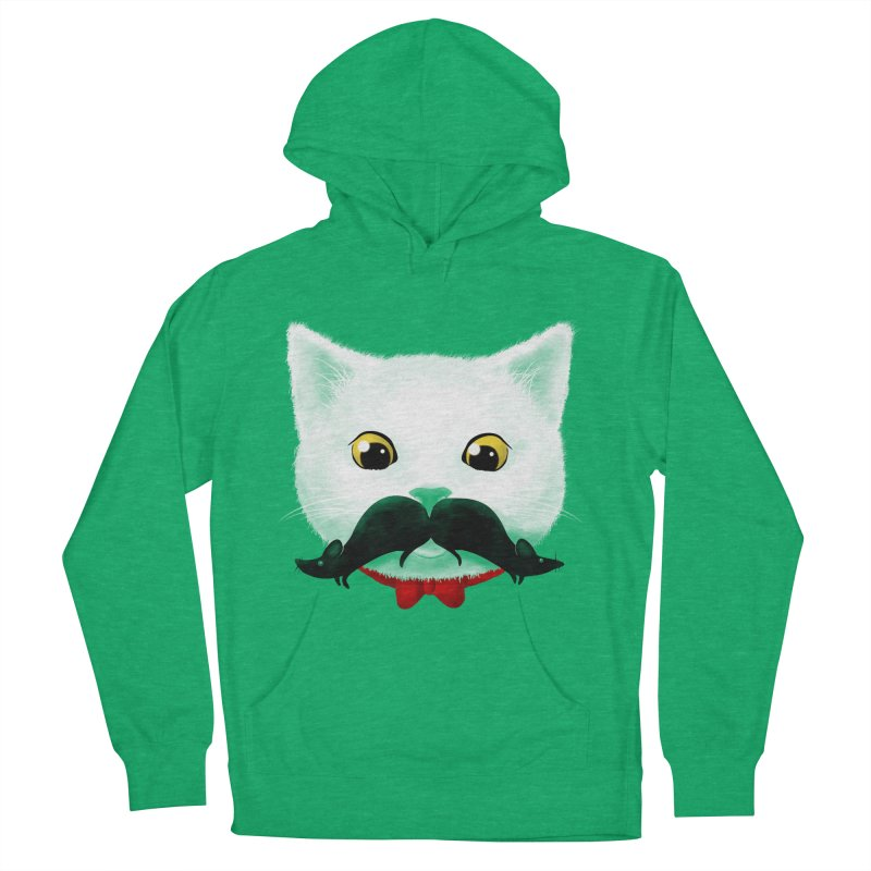 mr. cat's mouse-tache Women's Pullover Hoody by Rejagalu's Artist Shop