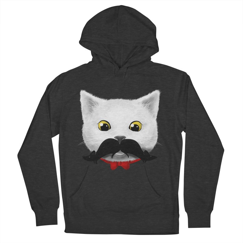 mr. cat's mouse-tache Women's Pullover Hoody by Rejagalu's Artist Shop