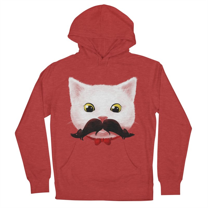 mr. cat's mouse-tache Men's Pullover Hoody by Rejagalu's Artist Shop