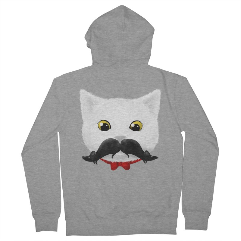 mr. cat's mouse-tache Women's Zip-Up Hoody by Rejagalu's Artist Shop