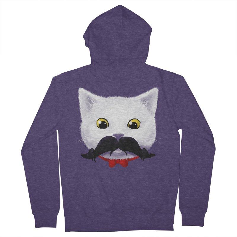 mr. cat's mouse-tache Men's Zip-Up Hoody by Rejagalu's Artist Shop
