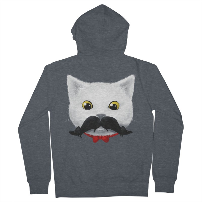 mr. cat's mouse-tache Men's Zip-Up Hoody by Rejagalu's Artist Shop