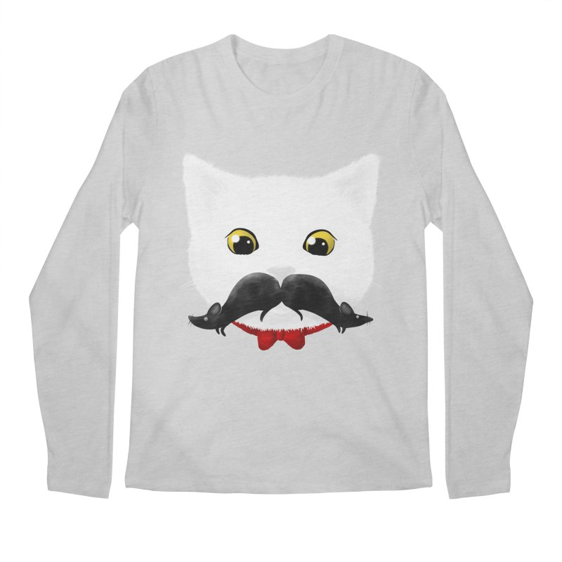 mr. cat's mouse-tache Men's Longsleeve T-Shirt by Rejagalu's Artist Shop