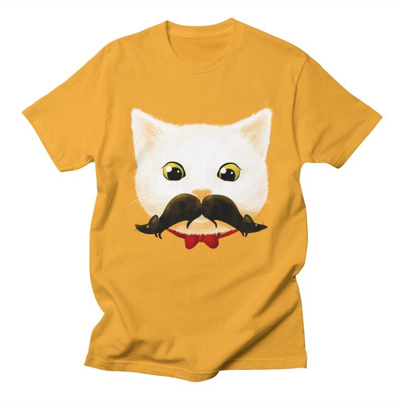 mr. cat's mouse-tache Men's T-Shirt by Rejagalu's Artist Shop
