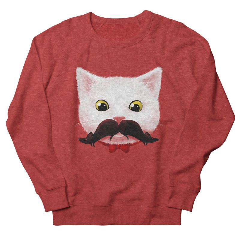 mr. cat's mouse-tache Women's Sweatshirt by Rejagalu's Artist Shop