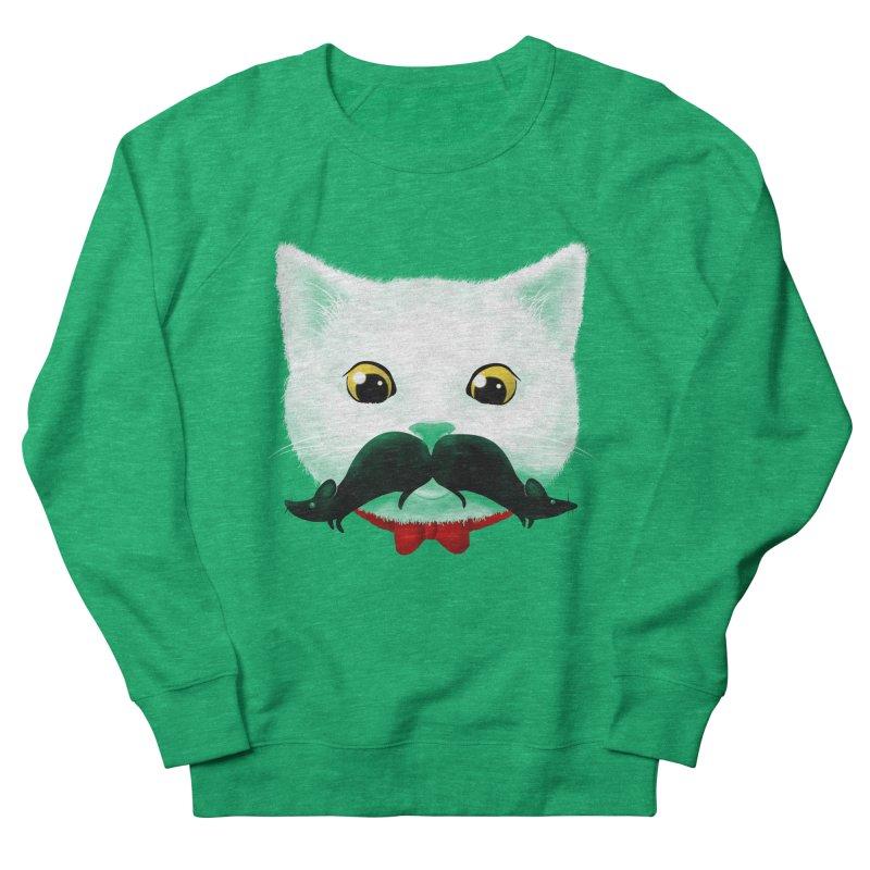 mr. cat's mouse-tache Men's Sweatshirt by Rejagalu's Artist Shop