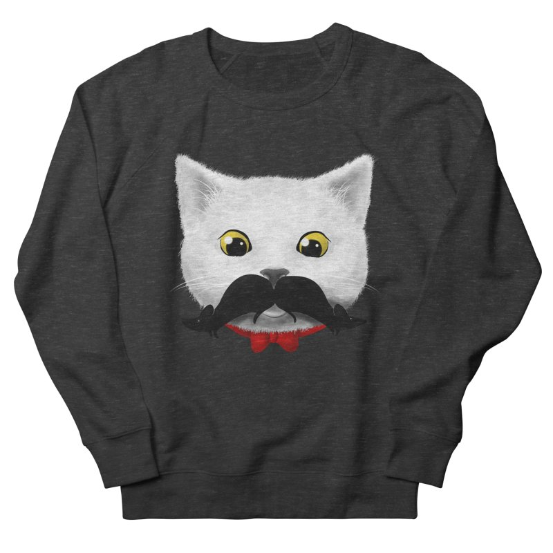 mr. cat's mouse-tache Men's Sweatshirt by Rejagalu's Artist Shop