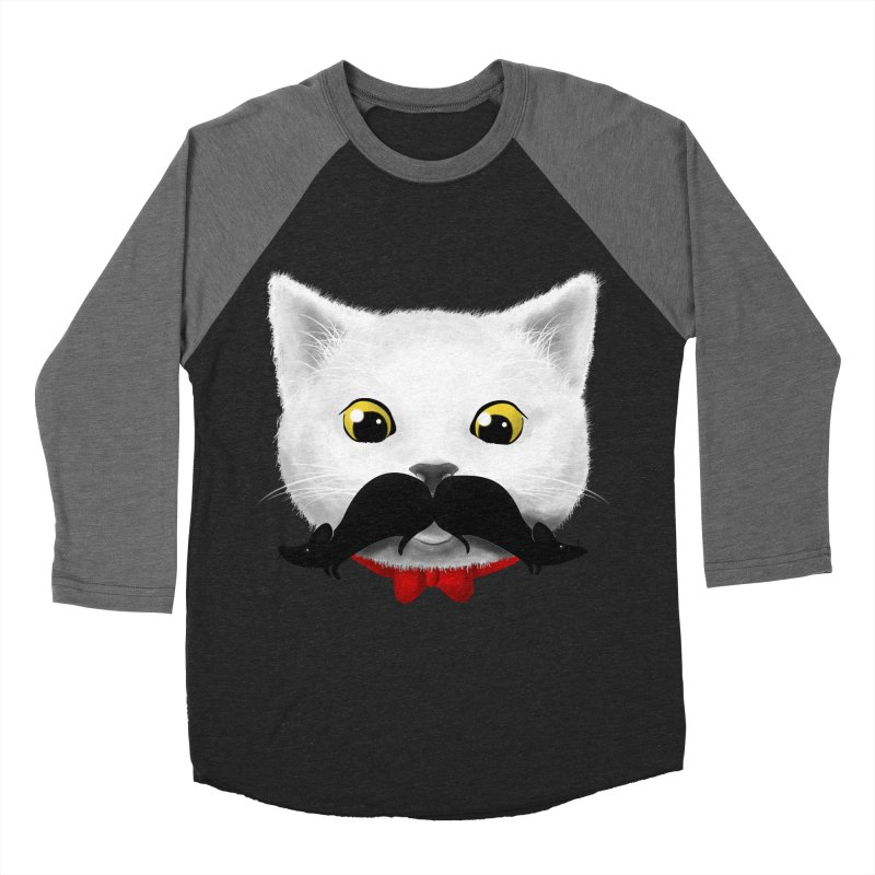 mr. cat's mouse-tache Men's Baseball Triblend T-Shirt by Rejagalu's Artist Shop