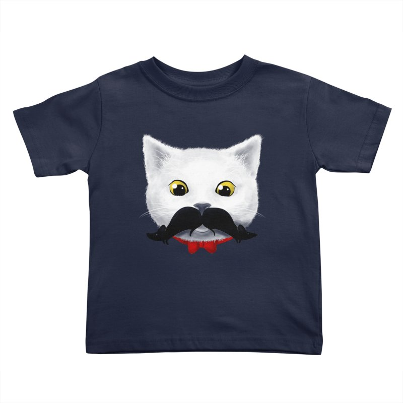 mr. cat's mouse-tache Kids Toddler T-Shirt by Rejagalu's Artist Shop