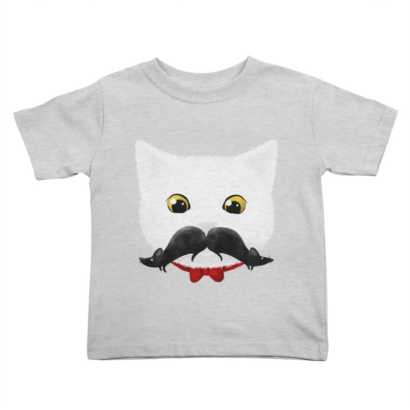 mr. cat's mouse-tache Kids Toddler T-Shirt by Rejagalu's Artist Shop