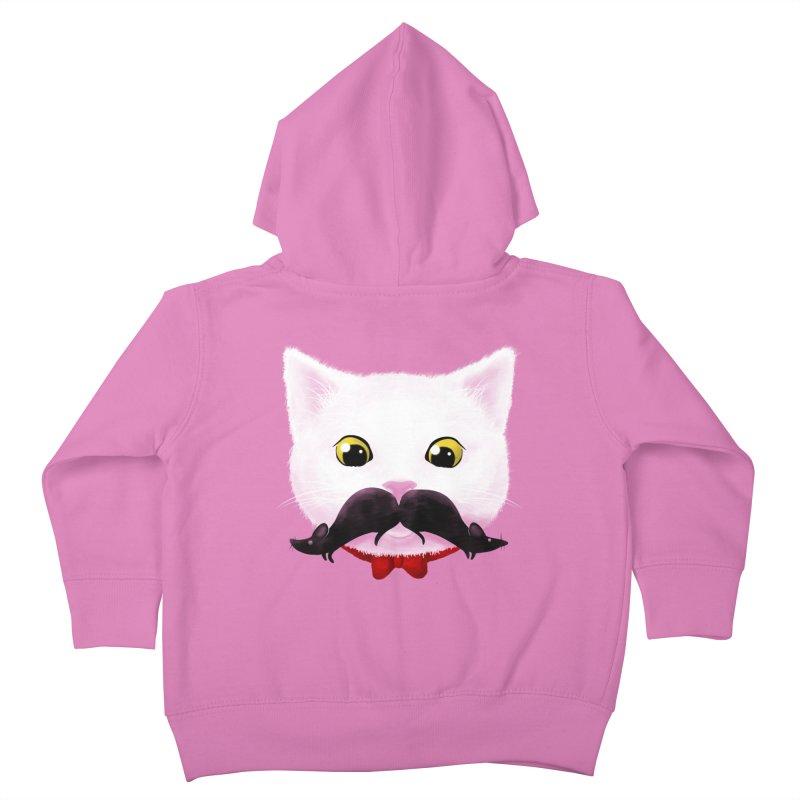 mr. cat's mouse-tache Kids Toddler Zip-Up Hoody by Rejagalu's Artist Shop