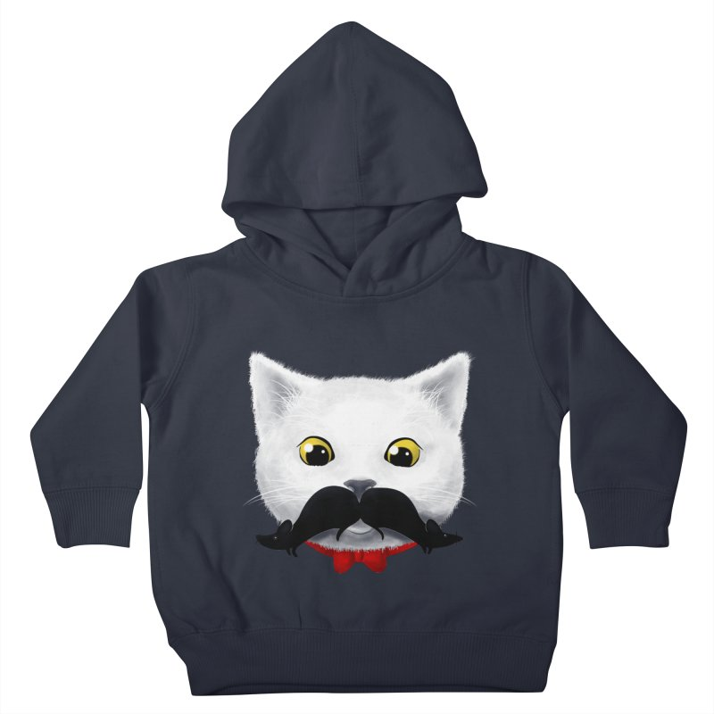 mr. cat's mouse-tache Kids Toddler Pullover Hoody by Rejagalu's Artist Shop