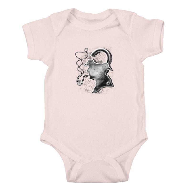 un-Sher-lock-ed Kids Baby Bodysuit by Rejagalu's Artist Shop
