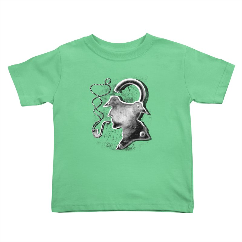 un-Sher-lock-ed Kids Toddler T-Shirt by Rejagalu's Artist Shop