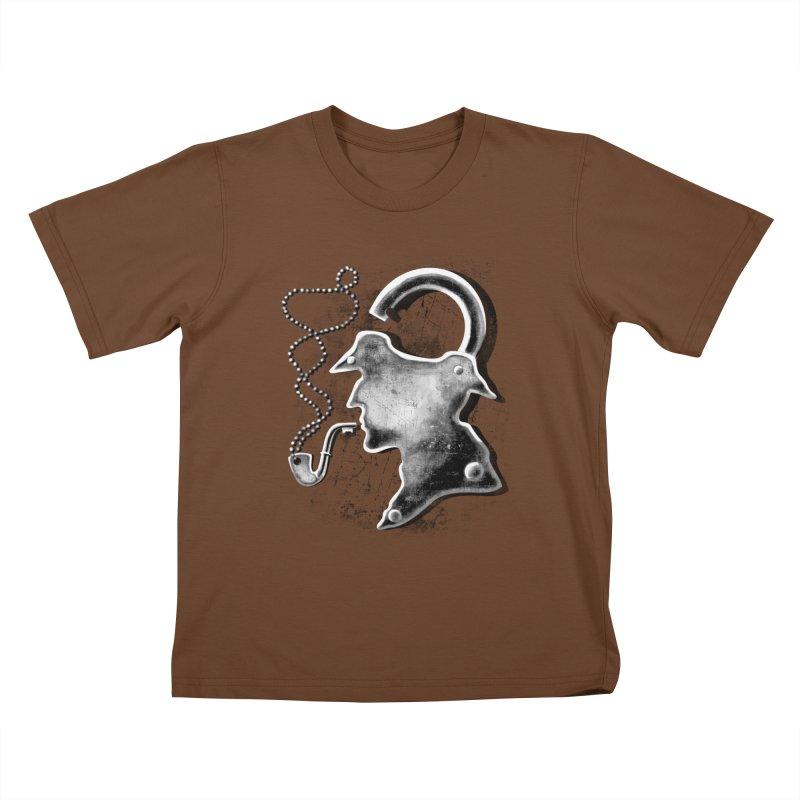 un-Sher-lock-ed Kids T-Shirt by Rejagalu's Artist Shop