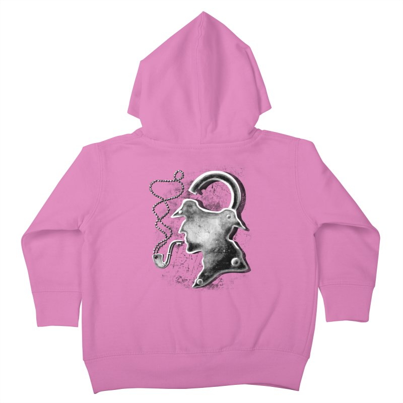 un-Sher-lock-ed Kids Toddler Zip-Up Hoody by Rejagalu's Artist Shop