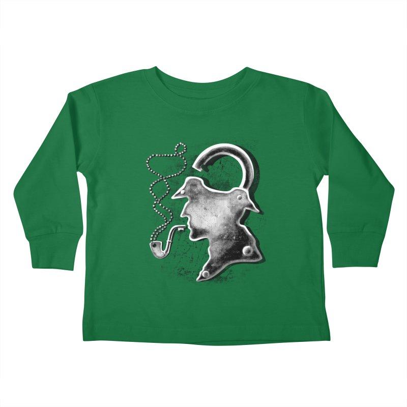 un-Sher-lock-ed Kids Toddler Longsleeve T-Shirt by Rejagalu's Artist Shop