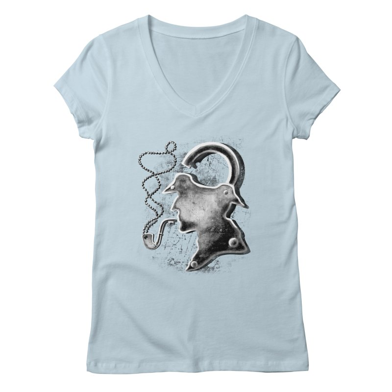un-Sher-lock-ed Women's V-Neck by Rejagalu's Artist Shop