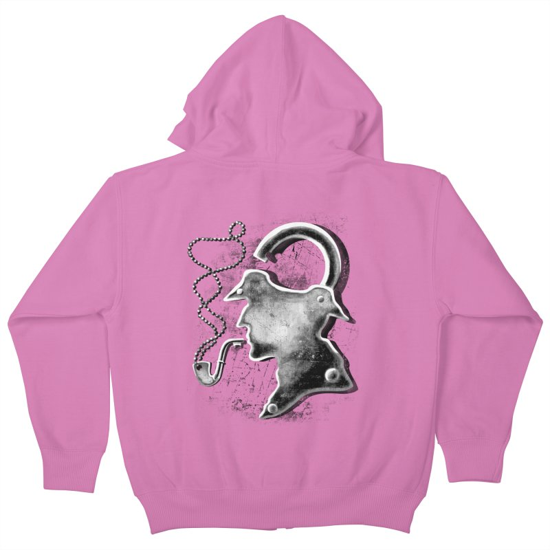 un-Sher-lock-ed Kids Zip-Up Hoody by Rejagalu's Artist Shop