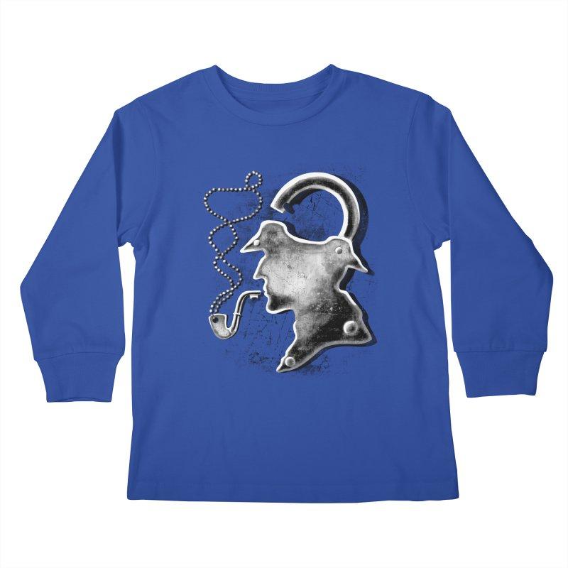 un-Sher-lock-ed Kids Longsleeve T-Shirt by Rejagalu's Artist Shop