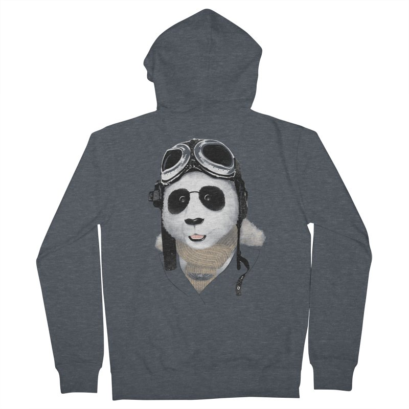 the aviator - born to fly Women's Zip-Up Hoody by Rejagalu's Artist Shop