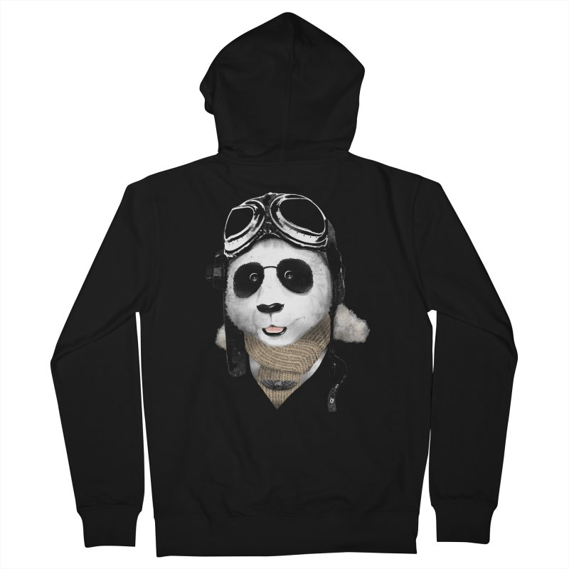 the aviator - born to fly Men's Zip-Up Hoody by Rejagalu's Artist Shop