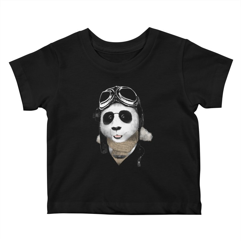 the aviator - born to fly Kids Baby T-Shirt by Rejagalu's Artist Shop