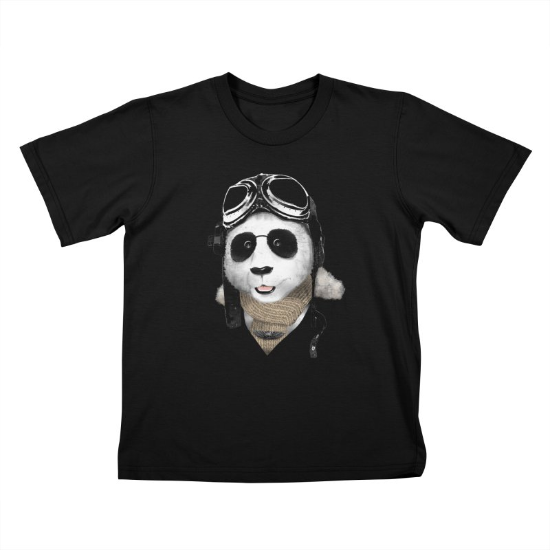 the aviator - born to fly Kids T-shirt by Rejagalu's Artist Shop