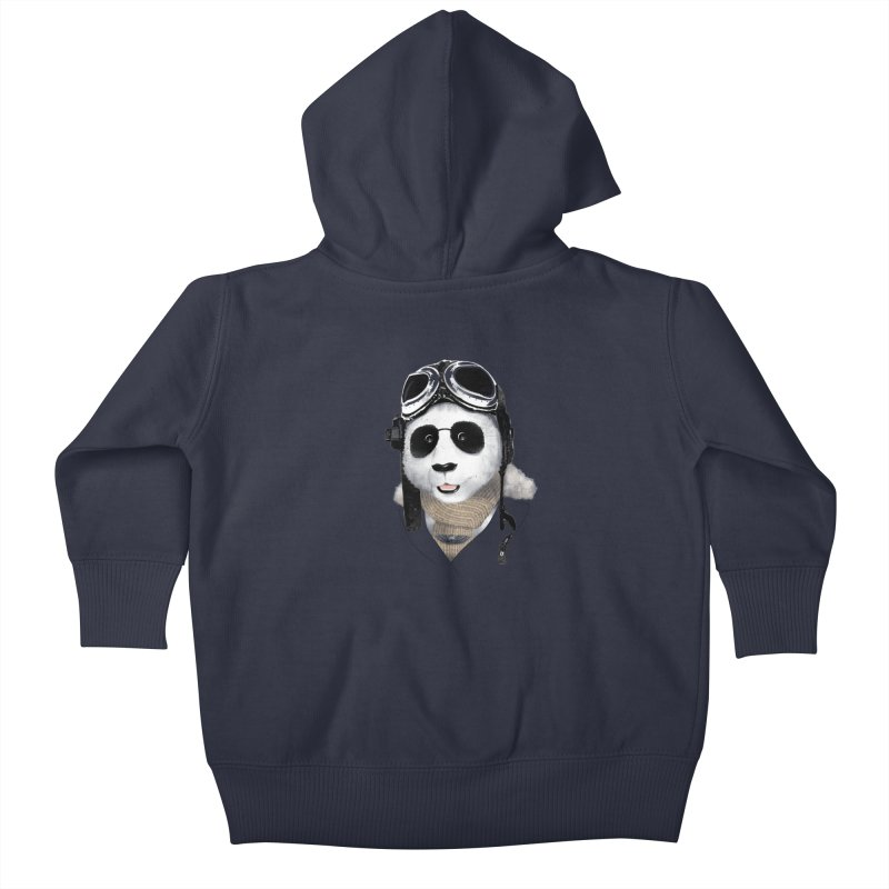 the aviator - born to fly Kids Baby Zip-Up Hoody by Rejagalu's Artist Shop