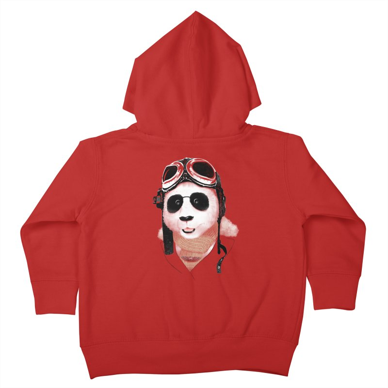 the aviator - born to fly Kids Toddler Zip-Up Hoody by Rejagalu's Artist Shop