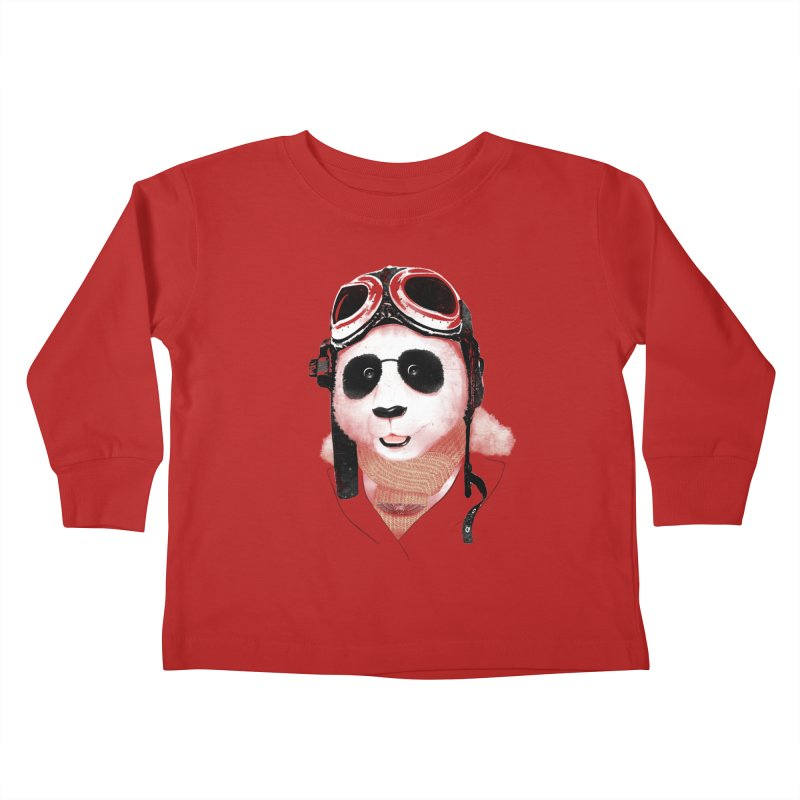 the aviator - born to fly Kids Toddler Longsleeve T-Shirt by Rejagalu's Artist Shop